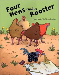 Book cover of Four Hens and a Rooster