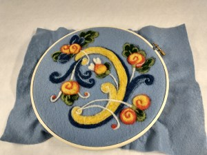 embroidery in the rosemal style