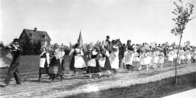 Syttende mai in Westby, Wisconsin many years ago