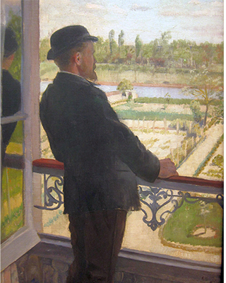 a portrait of Karl Nordström. He looks out over a garden