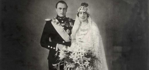 Crown Prince Olav and Crown Princess Märtha on their wedding day
