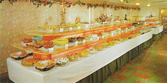 a table adorned with a smorgasbord of foods