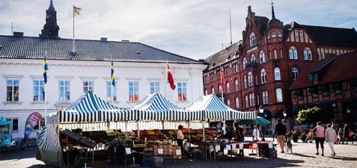 Ystad town square market