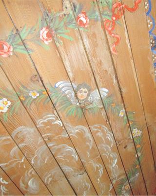rosemaling painting on a sealing
