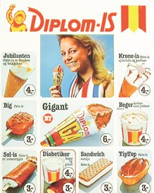 an advertisement for Diplom Is from a new book by Håvard Mossige