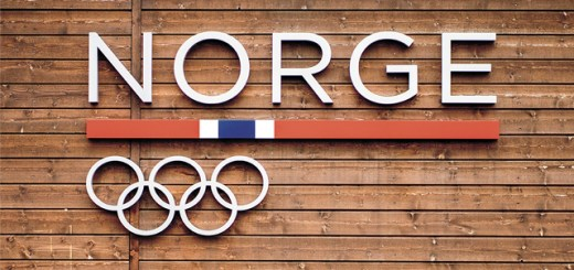 Norway Olympic headquarters sign