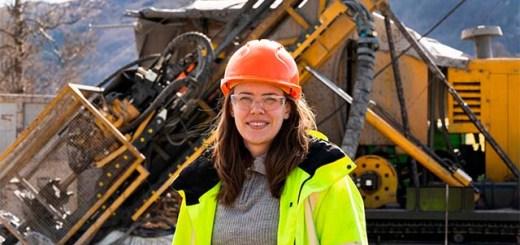 Monika Øksnes at the exploration site