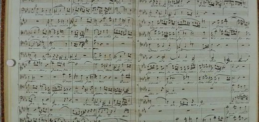 pages fro Edvard Grieg's exercise books from his time at the Leipzig conservatory