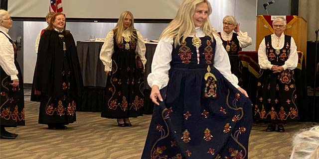 Bunad Fashion show at the Daughters of Norway convention