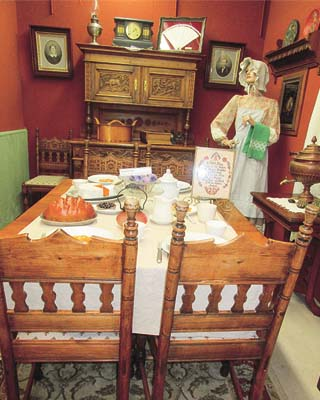 an antique table and chairs from Norwegian immigrants