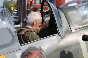 Wilhelm Mohr getting ready to fly a Spitfire once again