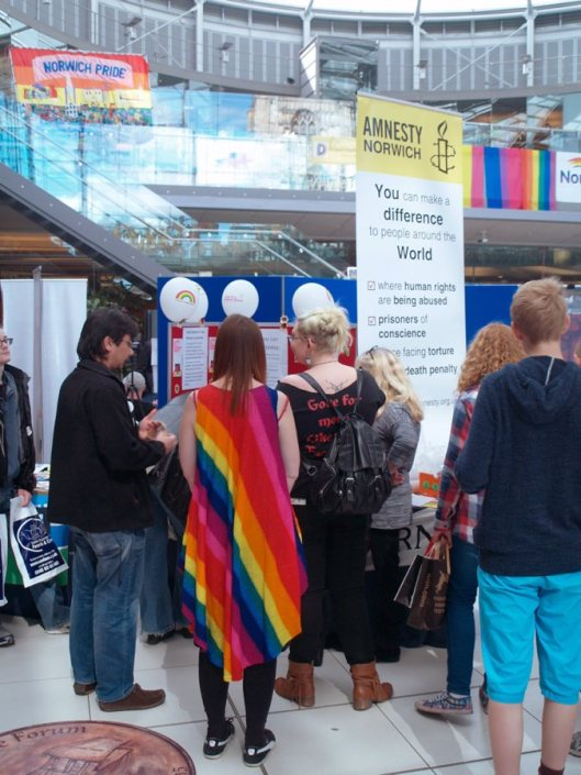 Norwich Amnesty Stall at Norwich Pride 4