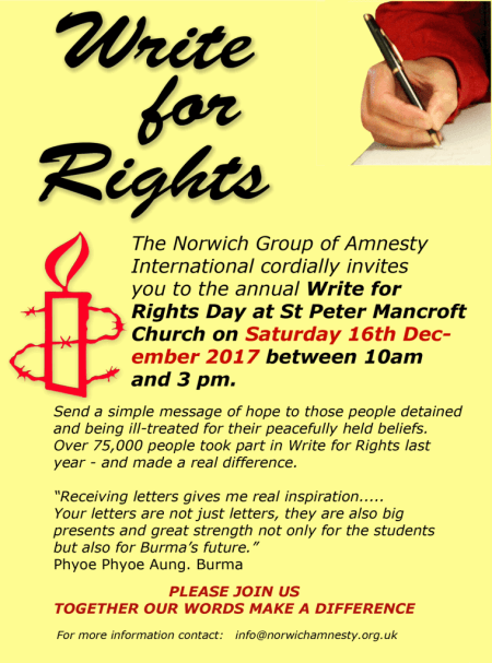 Write for Rights 2017 Poster
