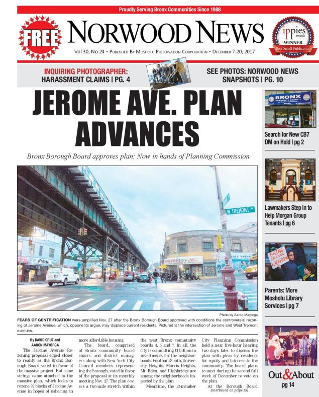 JEROME AVE  PLAN ADVANCES