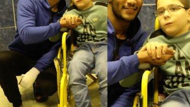 محمد رمضان مع الطفل