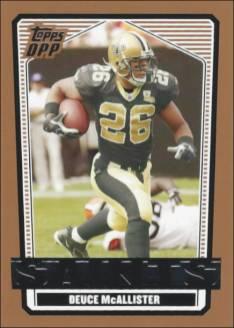 Deuce McAllister 2007 New Orleans Saints Topps Draft Picks & Prospects Card