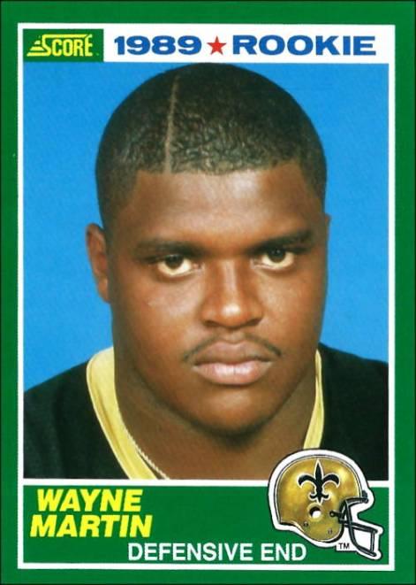 Wayne Martin 1989 New Orleans Saints Score Rookie Football Card