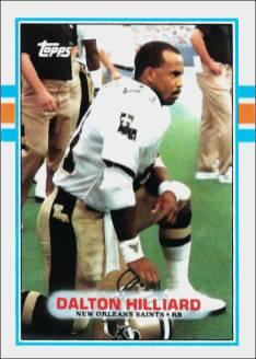 Dalton Hilliard New Orleans Saints 1989 Topps Football Card #157