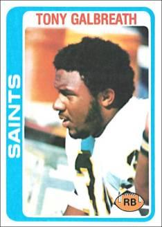 Tony Galbreath 1978 New Orleans Saints Topps Football Card