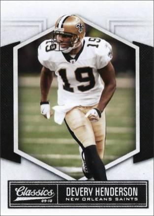 Devery Henderson 2010 New Orleans Saints Panini Classics Football Card #61