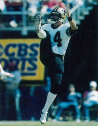 Russell Erxlebean 1983 Saints Punter