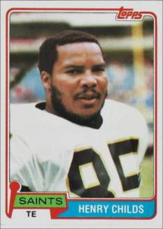 Henry Childs 1981 New Orleans Saints Topps Football Card #126