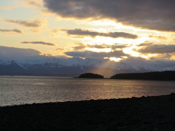 Watching a sunset in Juneau Alaska