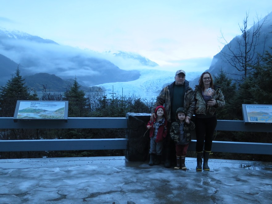 First family photo in Juneau, Alaska