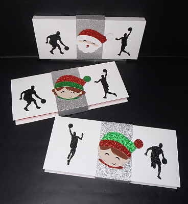 Des boites pour chèque-cadeau, esprit Basketball