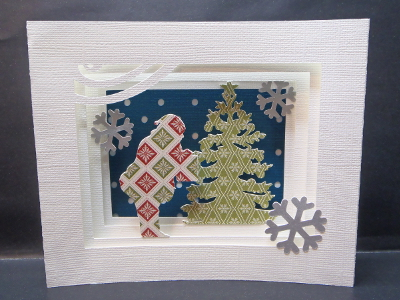 Carte-décoration Père Noël et sapin