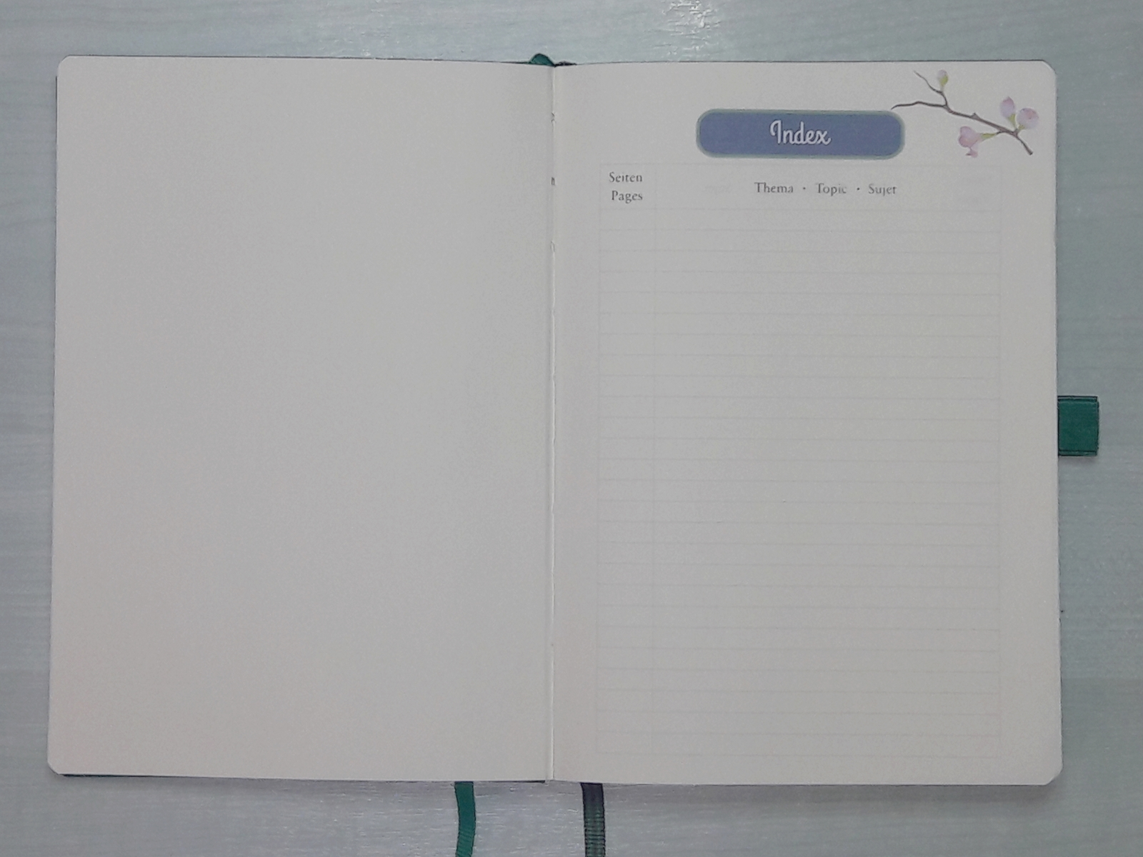 Bullet journal - page vierge