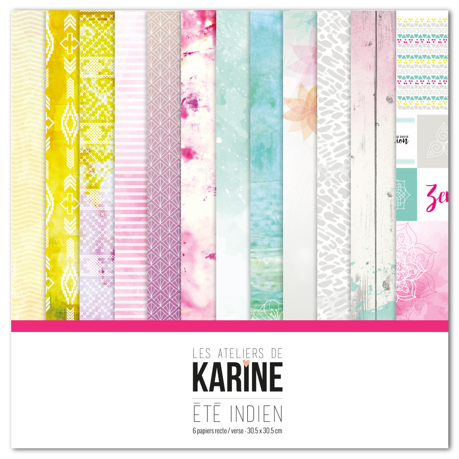 Mini album Été Indien - collection Ateliers de Karine