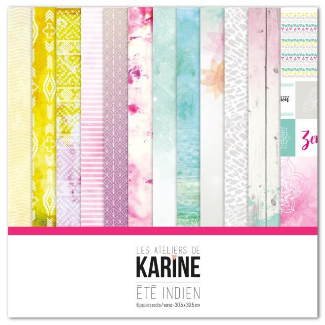 Mini album Été Indien - collection Ateliers de Karine