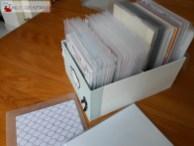 Rangement des papiers scrap