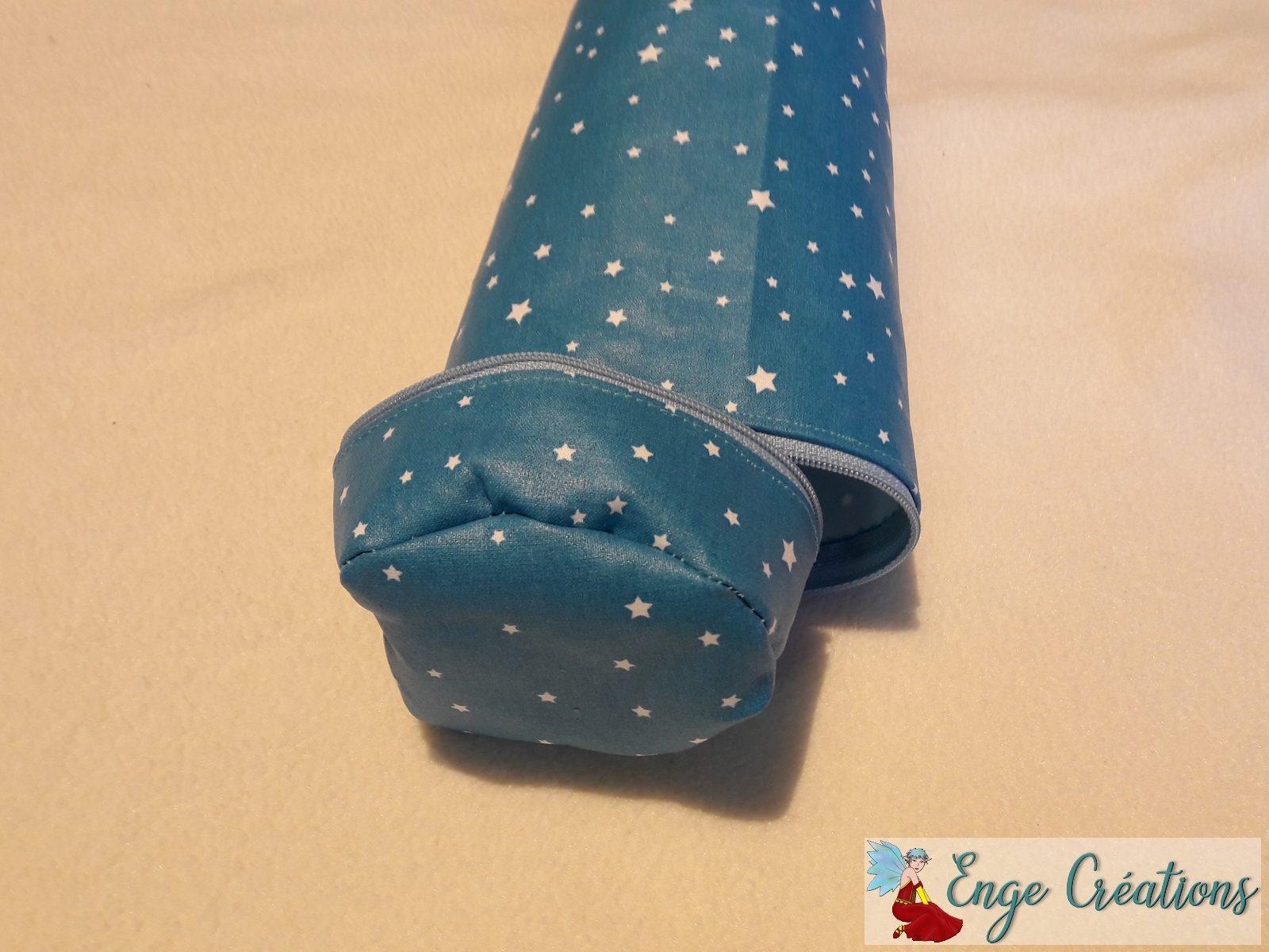 Trousse Marie - turquoise et étoiles