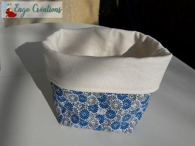 Videpoche fleurs bleues