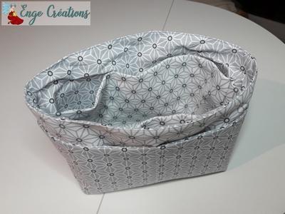Organisateur de sac gris et blanc