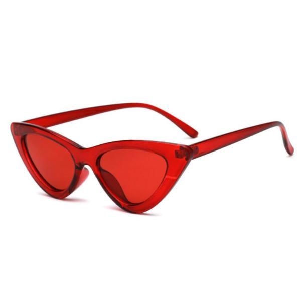 COOYOUNG Cute Sexy Retro Cat Eye Sunglasses Women Small Black White Triangle Vintage Cheap Ladies Sun Glasses Red Female UV400 4
