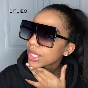 Oversized Shades Women Sunglasses Black Fashion Square Glasses Big Frame Vintage Retro Glasses Female Unisex Oculos Feminino 1
