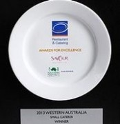 Catering Perth Award Plate