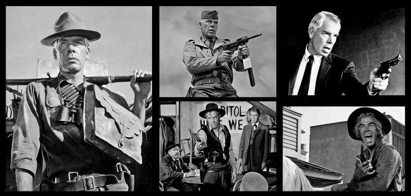 Lee Marvin collage