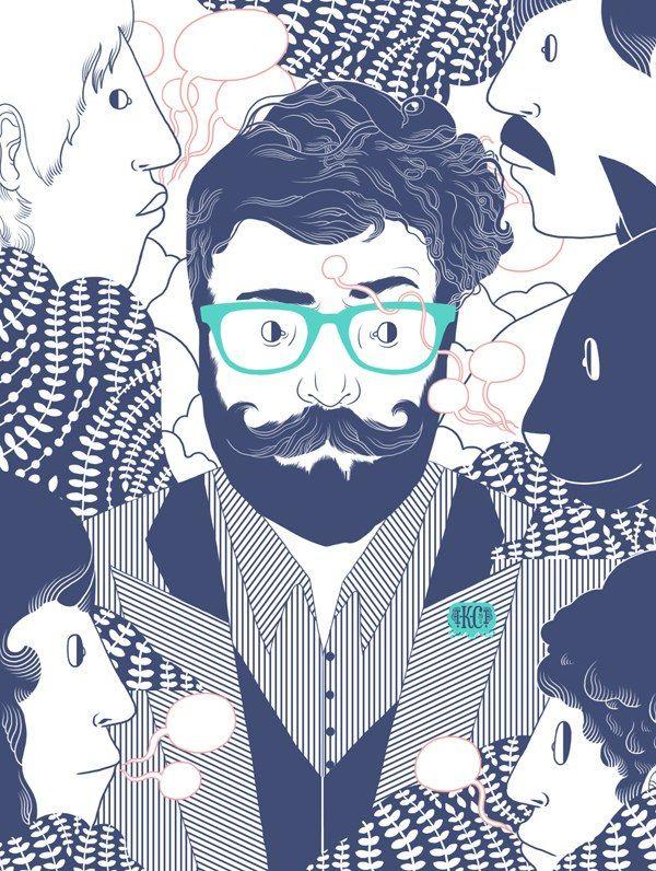 illustration beard