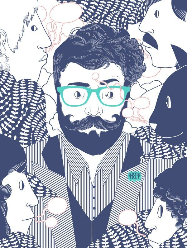 illustration beard