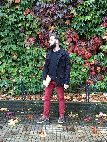 Domingo rojo de otoño