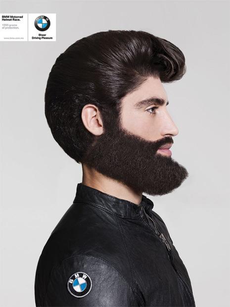 Casco, pelo y barba - bmw