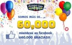 Image may contain: text that says 'Nostalgia Cuba SOMOS MÀS DE... 60,000 miembros en facebook iii60,000 GRACIAS!!! my'
