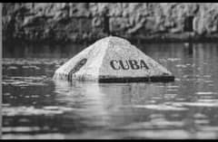May be a black-and-white image of text that says 'CUBA'