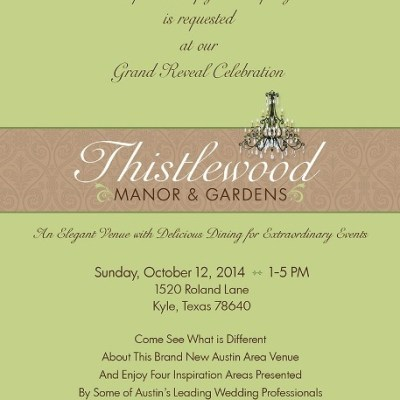 Thistlewood Manor Grand Reveal: Sunday, October 12th