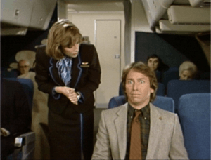Three's Company episodes: Cupid Works Overtime (Jack meets Vicky on flight)