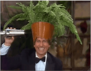 Three's Company Episode: Up in the Air (Jack's dance number, flower on head)